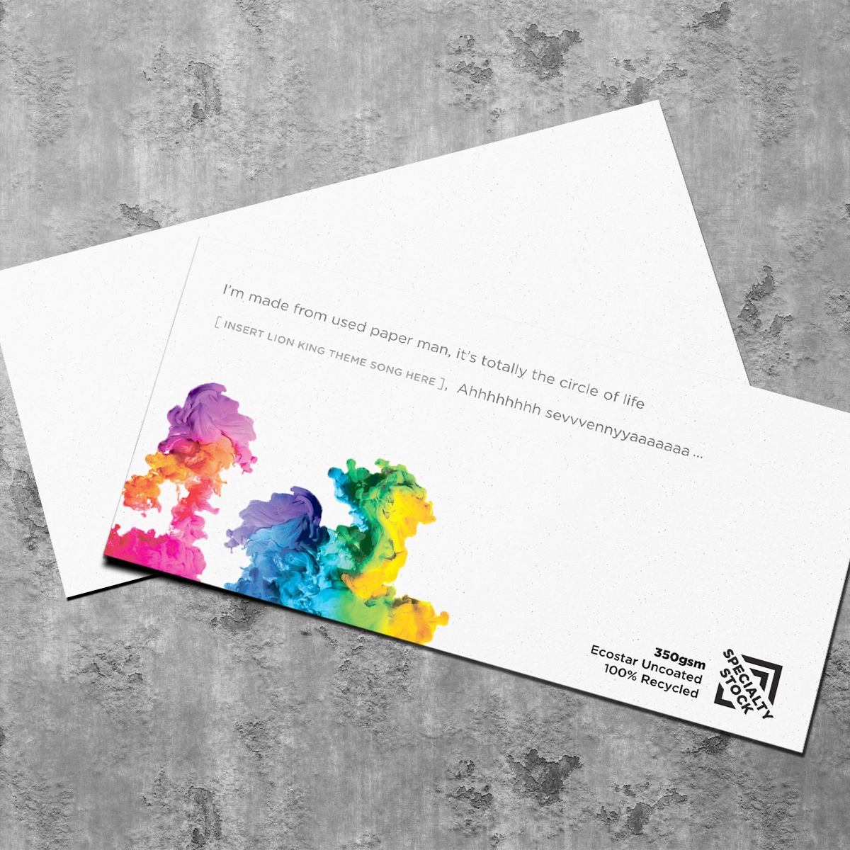 Edit design order online printing products ibs cards 350 ecostar uncoated 100 recycled board reheart Choice Image